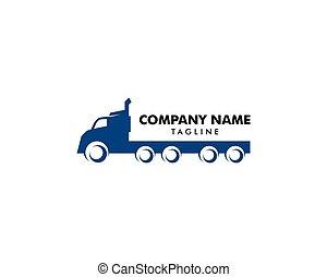 Transportation Truck Logo Vector Design