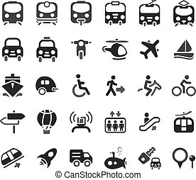 Transportation Vector Icons - Set of vector transportation...