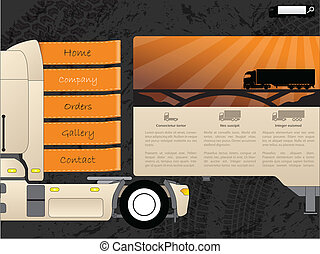 Transportation web template design