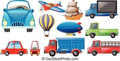 transportations, clases, diferente