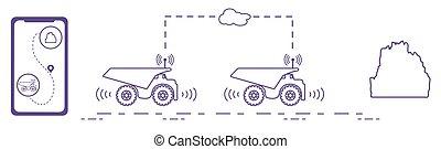 transportations, trucking., elegante