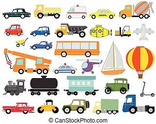 transportations, vehículos, o, motor