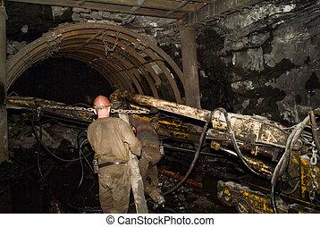 transportband, för, kol
