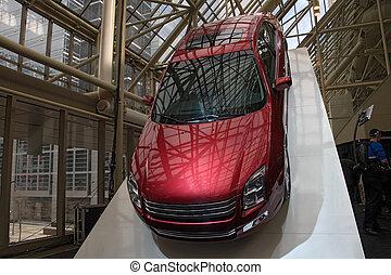 transporte, 010, automóvil, exposición, coche