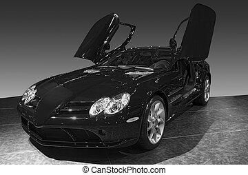 transporte, 061, automóvil, exposición, coche