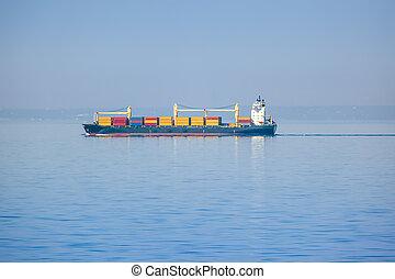 transporte, barco