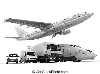 transporte, carga