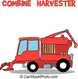 transporte, combinar, cobrança, harvester