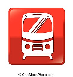 transporte, diseño, encima, fondo blanco, vector, ilustración