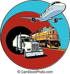 transporte, emblema