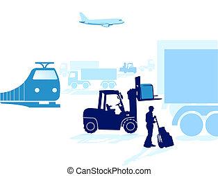 transporte, envío
