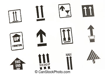 transporte, flecha, señales
