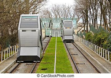 transporte, funicular