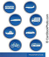 transporte, icono