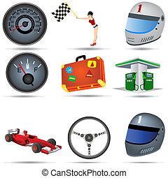 transporte, iconos