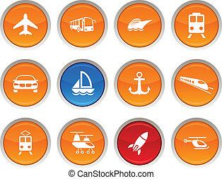 transporte, icons.
