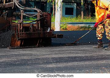 transporte, imagem, routes., construção rodovia, reparar