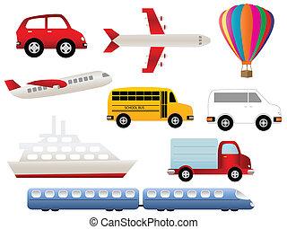 transporte, símbolos