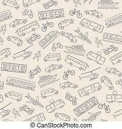 transporte, seamless, plano de fondo