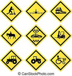 transporte, sinais