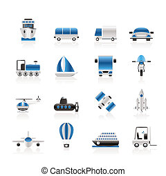 transporte, viaje, y, embarque