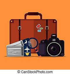 transporte, y, viaje, diseño
