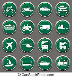 Transporter icons - transport related icons for design or...