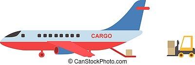 transportflugzeug, design, stil, wohnung