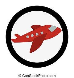 transportflugzeug, emblem, kreisförmig