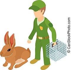 Transporting animal icon, isometric style