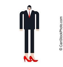 transsexual., イラスト, 人, ビジネスマン, ベクトル, 高く, heels.