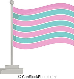 Transsexual pride flag isolated on white background Vector...