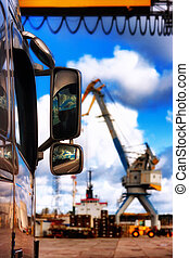 transshipment, havn, beholdere