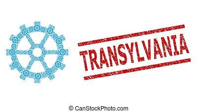 transylvania, ギヤ, recursion, 苦脳, コラージュ, アイコン, 切手, シール