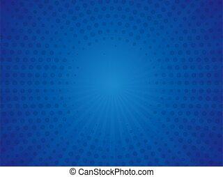 transzparens, ábra, háttér., kék, szüret, váratlanul rajzóra, vektor