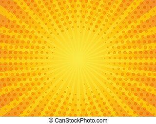 transzparens, ábra, háttér., szüret, sárga, váratlanul rajzóra, vektor