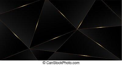 transzparens, ügy, fekete, gazdag, arany-, arany, nagyon fontos személyiség, királyi, háttér., fényűzés