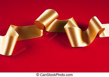 transzparens, gold szalag