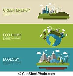 transzparens, lakás, állhatatos, ökológia
