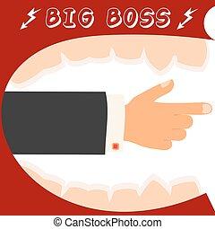transzparens, strategy., businessman., irány