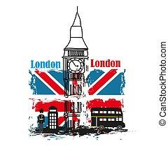 transzparens, -, szeret, grunge, london