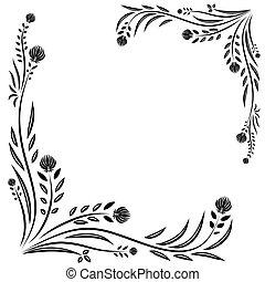 transzparens, virágos