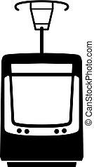 tranvía, ciudad, moderno