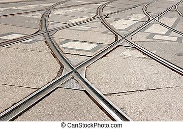 tranvía, pistas