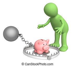 Piggy bank - bait in a trap