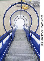trap, voor, instappen