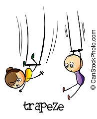 trapez, weisen