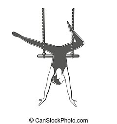 Trapeze. Circus element isolated on white background. ...