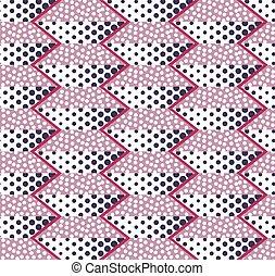 trapezoids, plano de fondo, seamless, puntos, resumen, ...