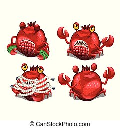 Trapped fancy monster in the form of a crab disguised in a...